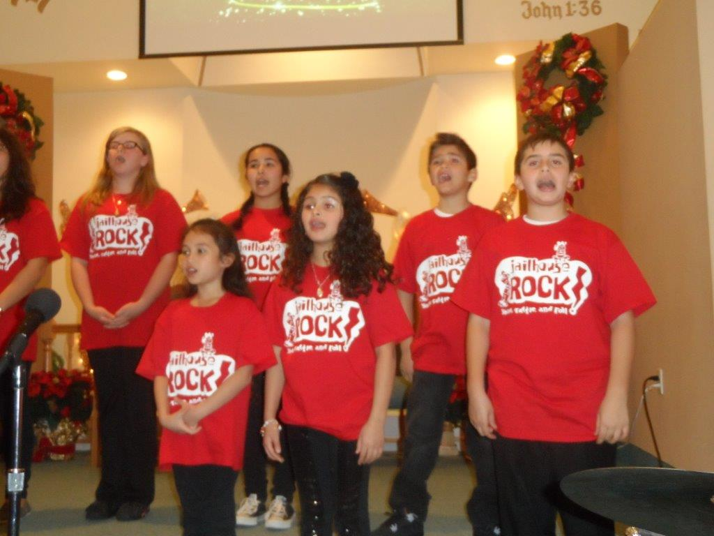 Sunday School & Youth Group perform the songs from Jailhouse Rock a childrens musical created by Celeste Clydesdale
